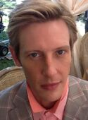Gabriel Mann on set as Nolan