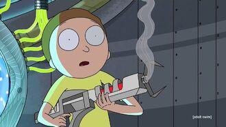 Morty reacts to shooting glenn