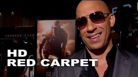 Riddick Vin Diesel World Premiere Interview