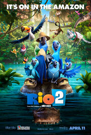Rio 2 poster it's on in the amazon