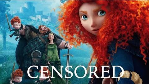 BRAVE Unnecessary Censorship Censored Disney Parody Bleep Video