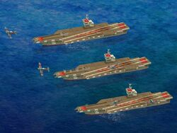 Carriers launching Fighter Bombers