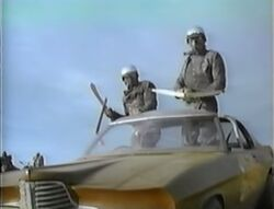 Holden Monaro driver and passenger