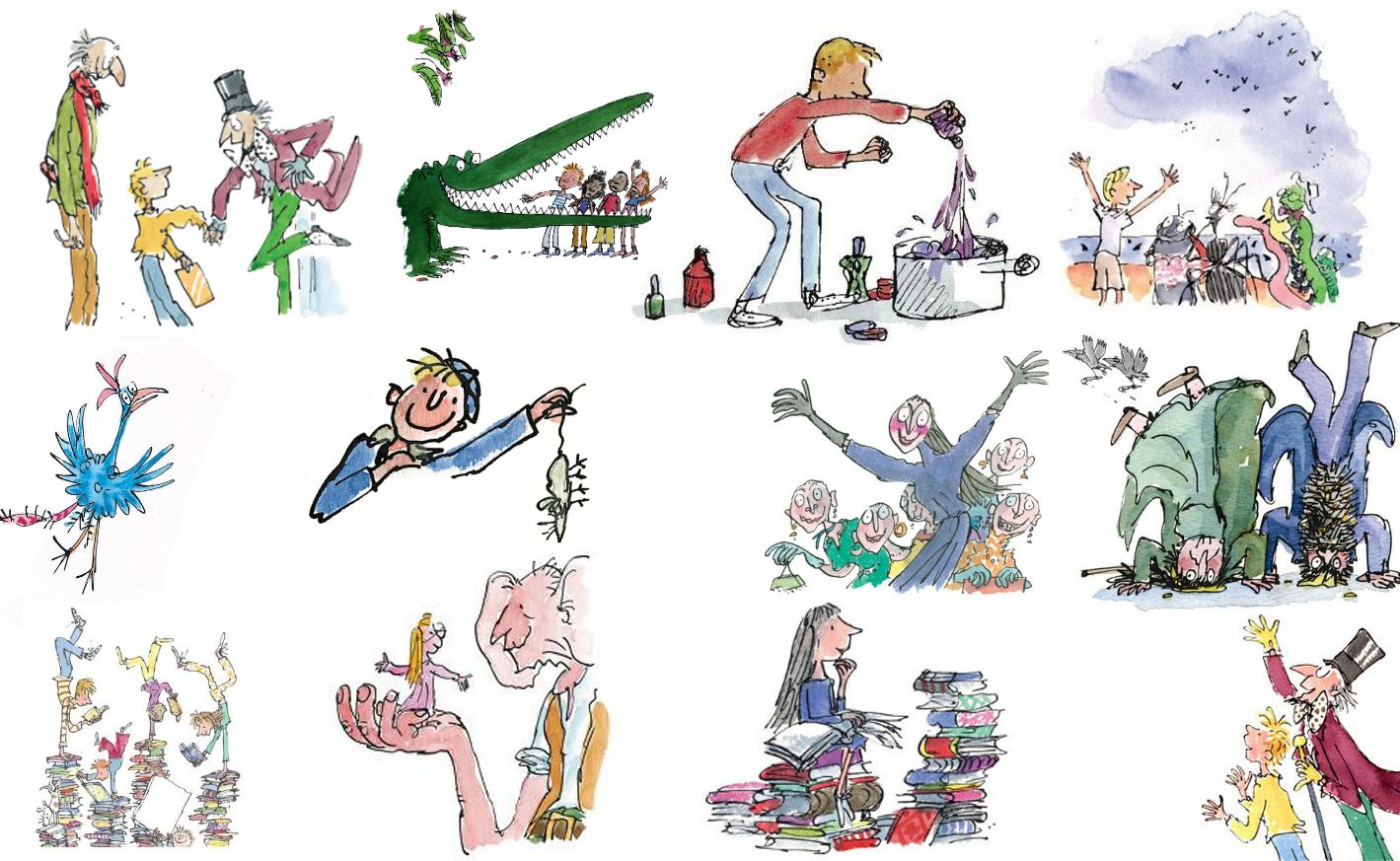 Image result for roald dahl characters cartoon