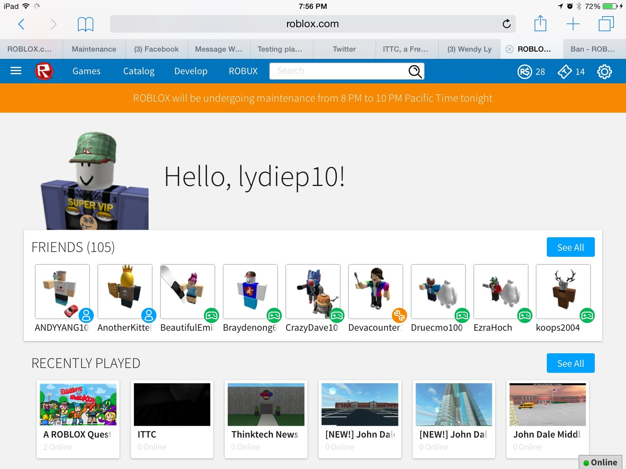 how to appear chat offline in roblox