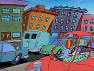 Rocko and Mrs. Wolfe Getting back into traffic