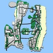 Map of vice city