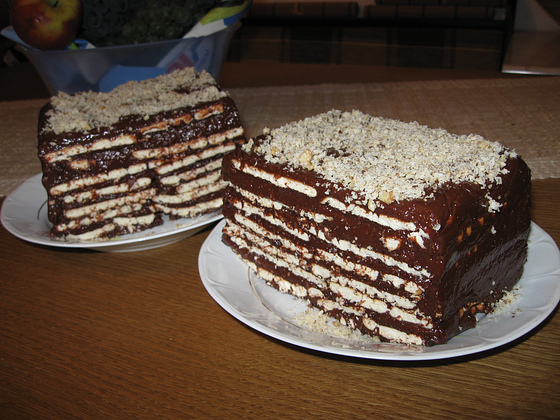 Biscuit Layered Cake   Romanian Recipes Wiki   Fandom powered by Wikia
