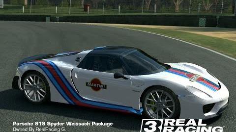 video tune martini porsche 918 weissach package real racing 3 customize real racing 3 wiki. Black Bedroom Furniture Sets. Home Design Ideas