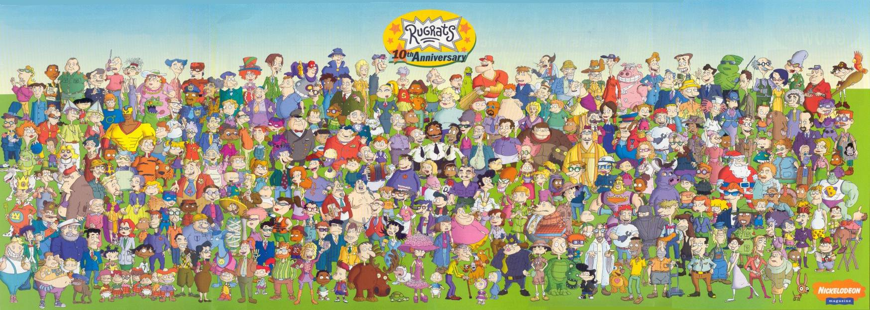 Image - Rugrats 10th Anniversary Cast Poster.jpg | Rugrats Wiki ...
