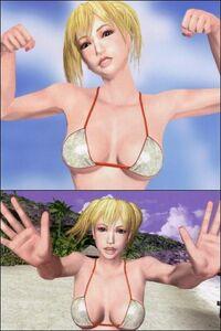 Becky posing in Bikini (2x) v1.0