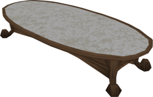 Opulent table built