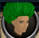 Green afro chathead