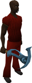 Rune pickaxe equipped