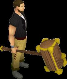 Gadderhammer equipped