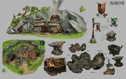 Doric's hut concept art