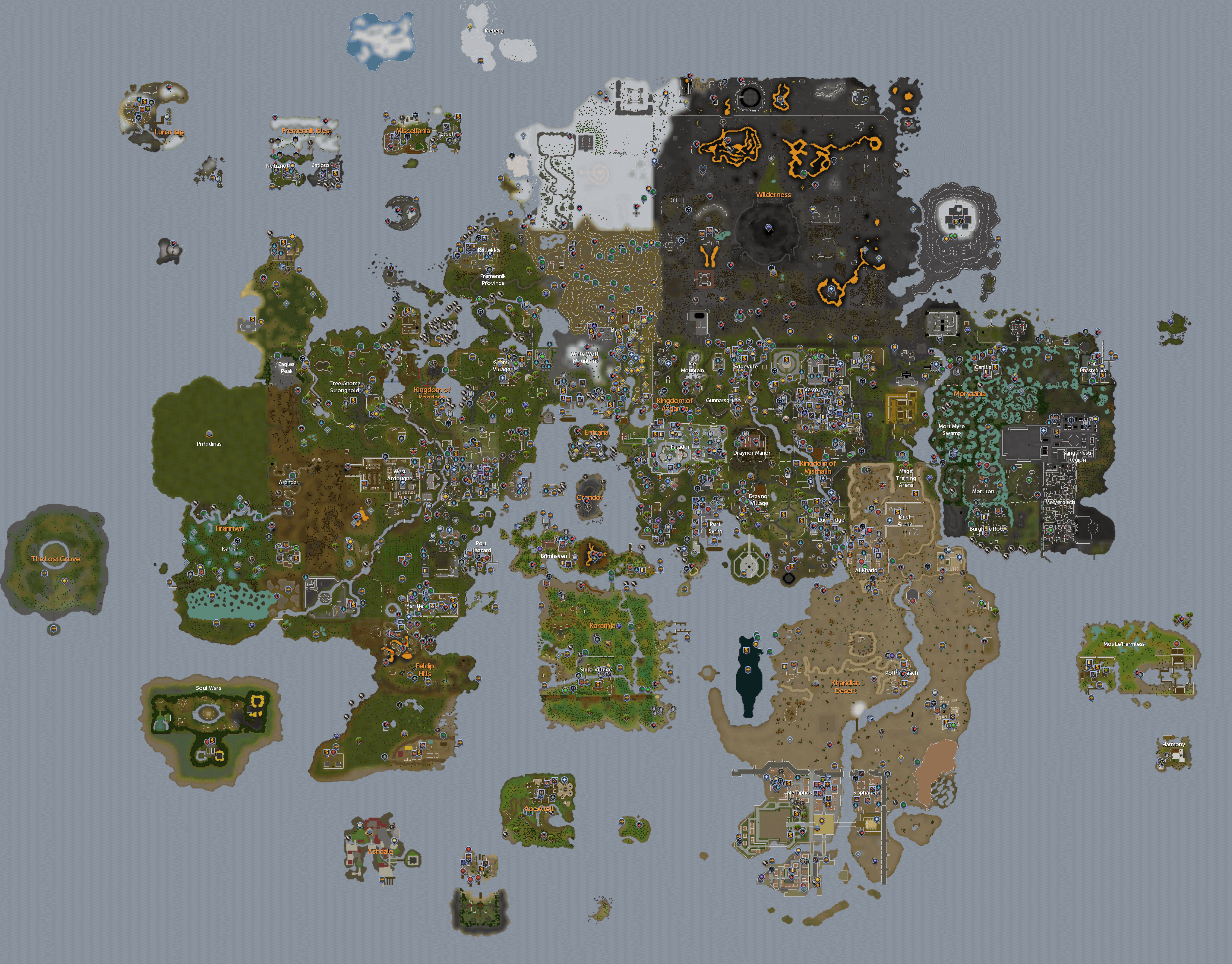 Whole rs3 map runescape if you want smaller maps of other dimensions then you can always find them on the in game worldmap click the sphere on the bottom gumiabroncs Image collections