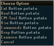 Rotten potato-options