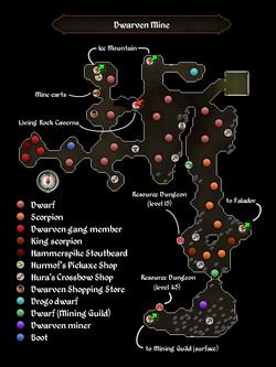 Dwarven Mine Map