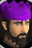 Purple partyhat chathead