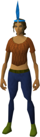 Chompy bird hat (ogre marksman) equipped