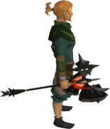 Infernal greathammer equipped