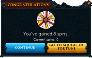 Redeemed a bond for Spins