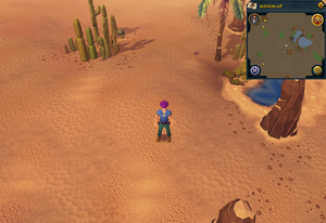 Scan clue Kharidian Desert south-west of oasis
