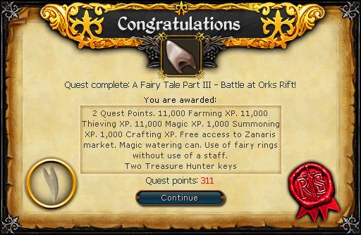 Fairy Tale III - Orks Rift reward
