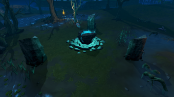 Water Altar outside