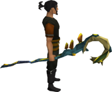 Polypore staff equipped