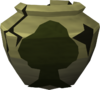 Cracked woodcutting urn detail