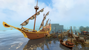 Ships in Catherby