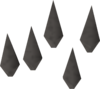 Iron arrowheads detail