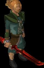 Dragon longsword equipped
