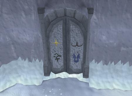 Frozen door old