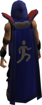 Retro agility cape equipped