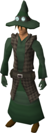 Runecrafter robes (green) equipped