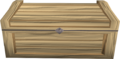 Oak treasure chest detail