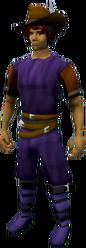 Dark cavalier equipped