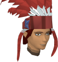 Feather headdress (red) chathead