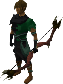 Dark bow equipped