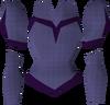 Purple elegant blouse detail