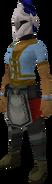 Rune heraldic helm (Arrav) equipped
