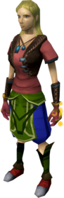 Goliath gloves (red) equipped