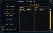 Friends chat setup