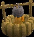 Firepit with pot built
