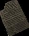 Shale tablet detail