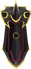 Black kiteshield (g) detail