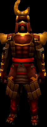 Superior tetsu armour set equipped (male)